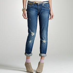 J. Crew Vintage Matchstick Jean in Dark Distressed